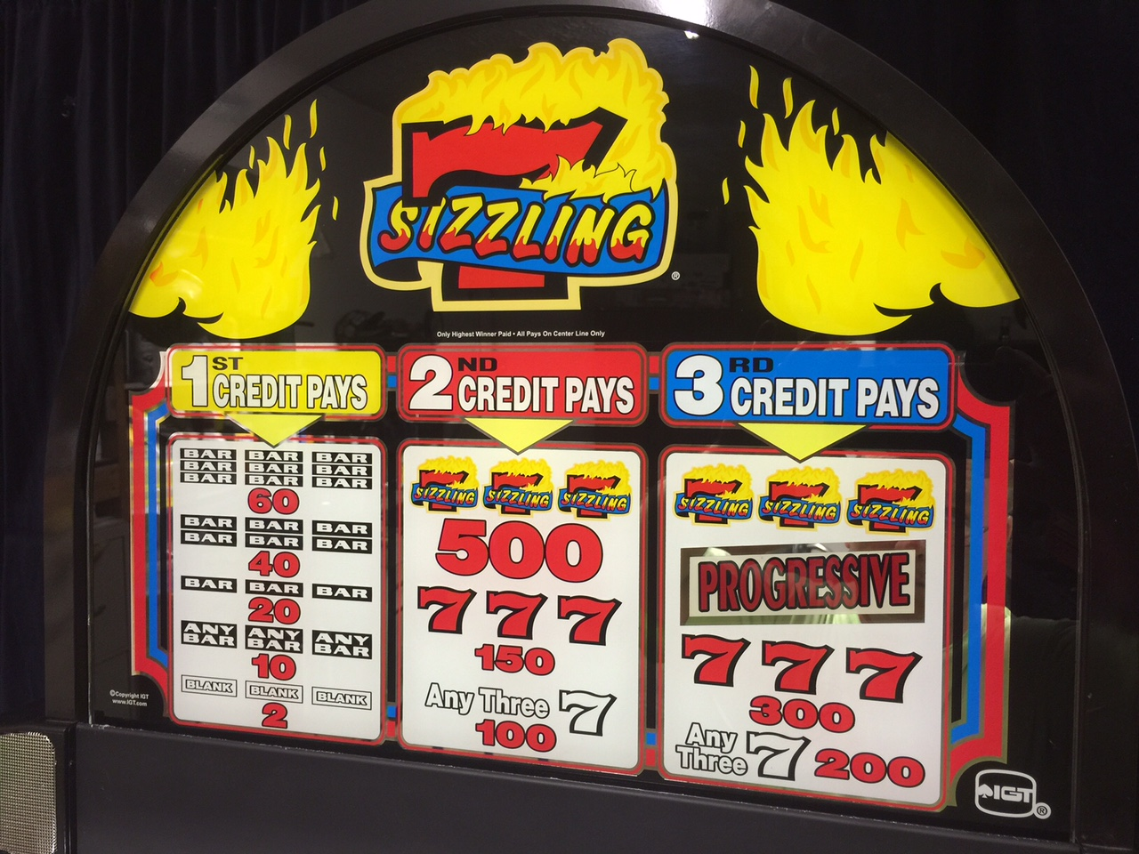 sizzling 7 slot machine game