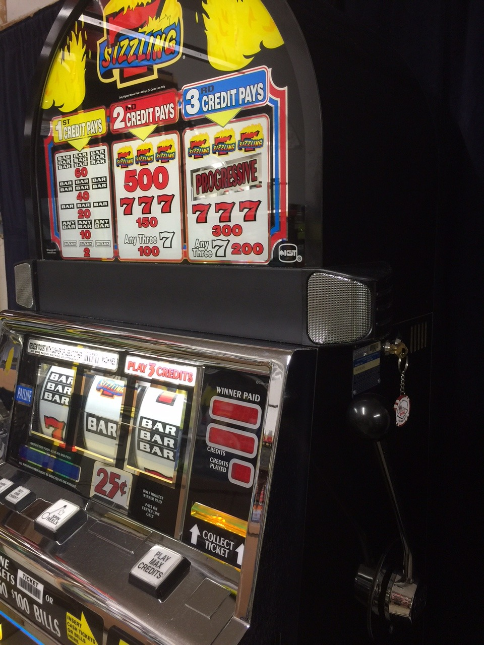 sizzling 7s slot machine